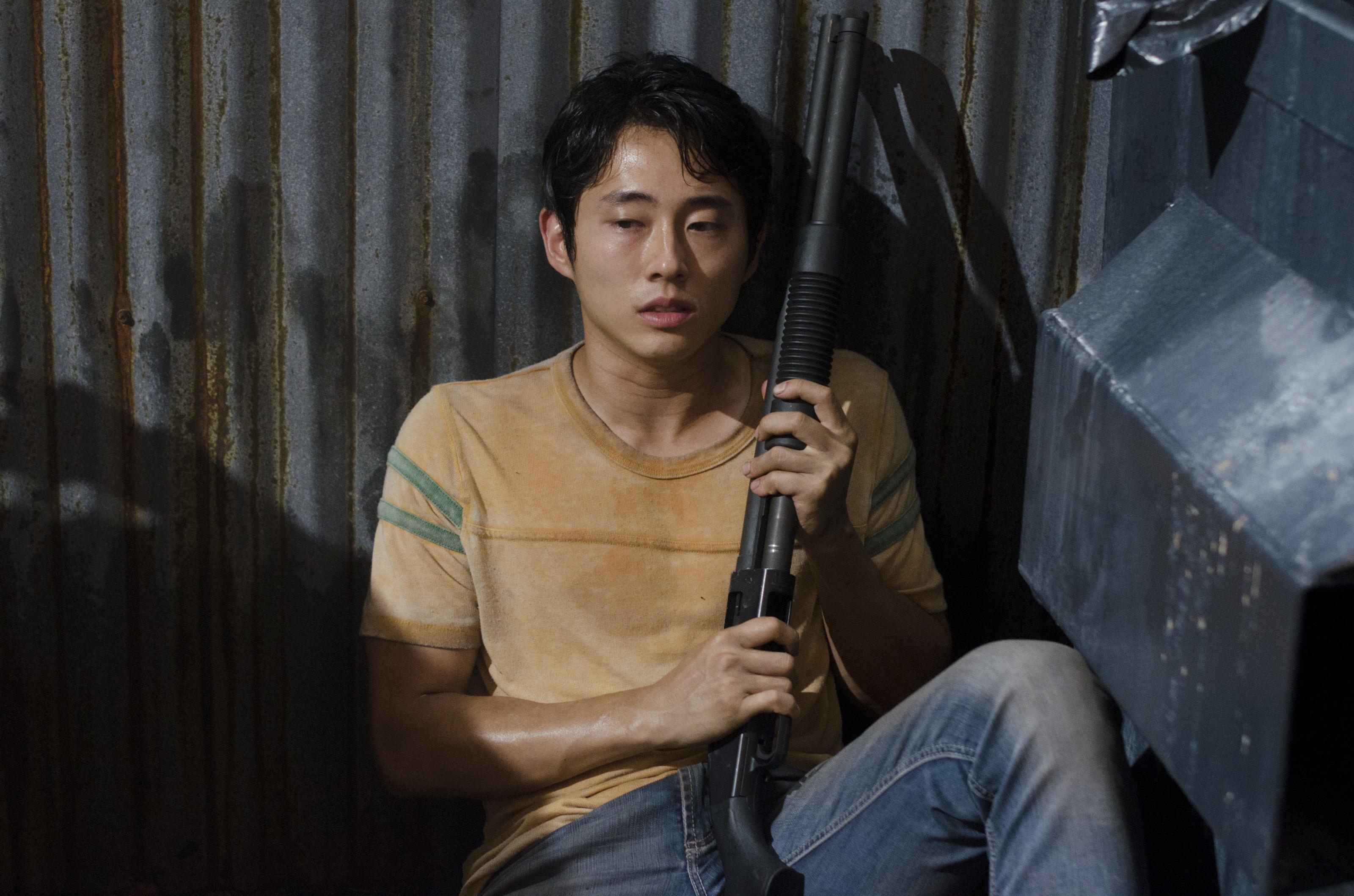 Glenn on The Walking Dead
