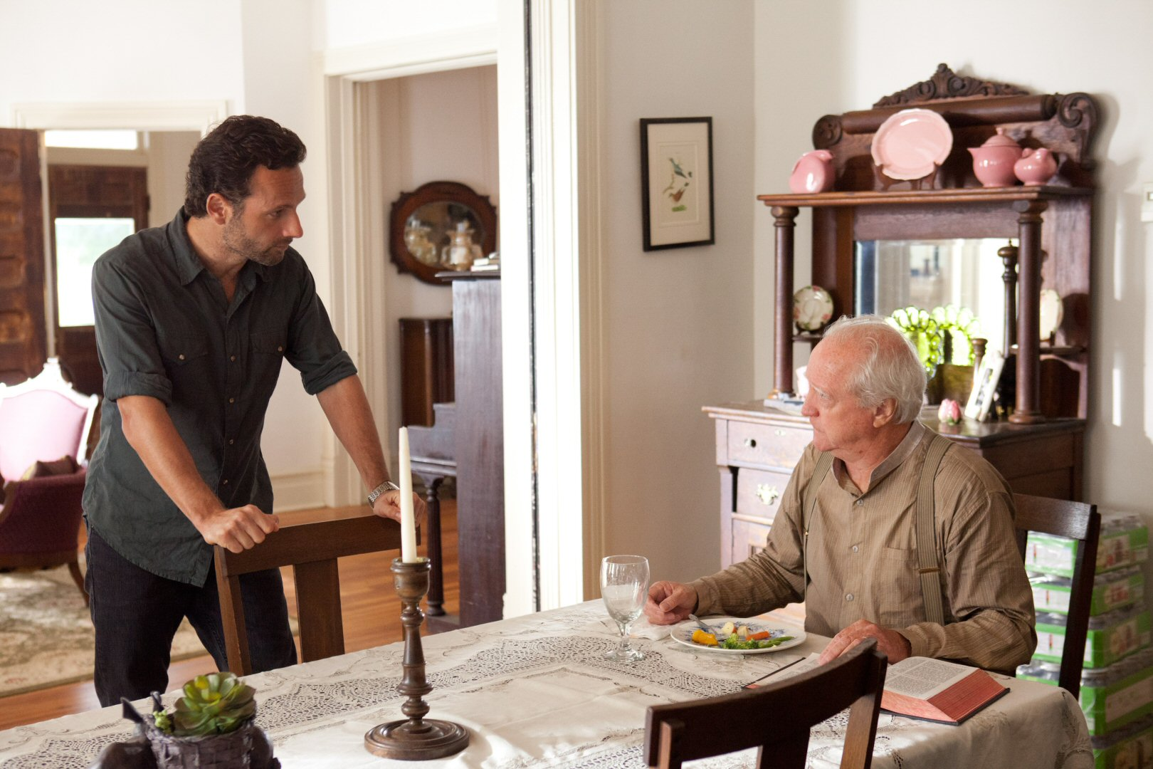 The Walking Dead Hershel And Father Gabriel